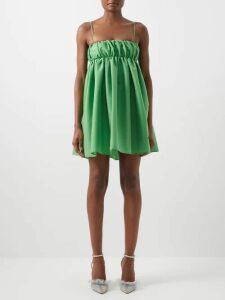 Kwaidan Editions - Patch Pocket Double Faced Crepe Pencil Skirt - Womens - Blue