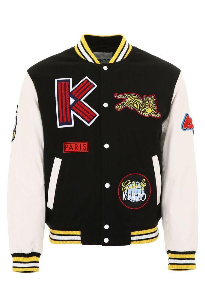 Kenzo Varsity Jacket With Patches
