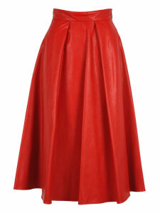 Msgm Msgm Pleated Midi Skirt