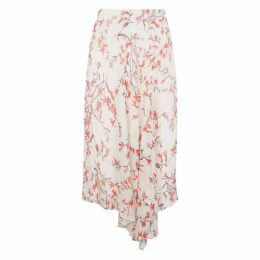 NICOLE FARHI Blush Anouk Silk Asymmetric Skirt