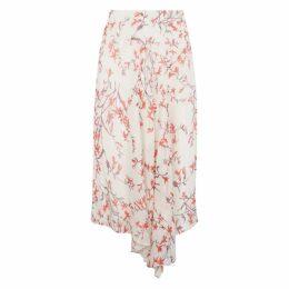 NICOLE FARHI Blush Anouk Silk Asymmetric Skirt