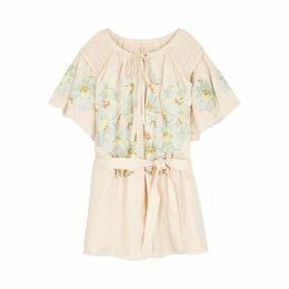 Innika Choo Hans Ufmafrök Embroidered Linen Mini Dress