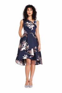 Womens Adrianna Papell Blue Short Jacquard Dress -  Blue