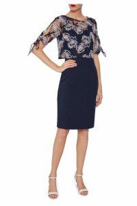 Womens Gina Bacconi Blue Arietta Dress With Overtop -  Blue