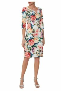 Womens Gina Bacconi Red Isolena Floral Scuba Dress -  Blue
