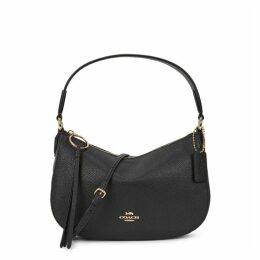 Coach Sutton Black Leather Top Handle Bag