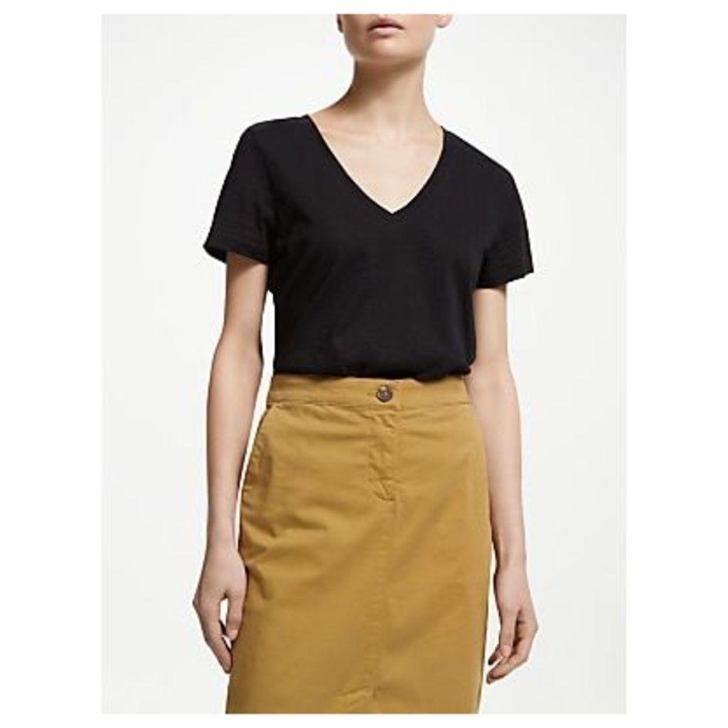 John Lewis & Partners V-Neck Cotton Slub T-Shirt