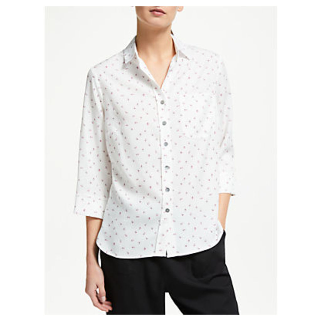 Collection WEEKEND by John Lewis Floral Leaf Print Shirt, White