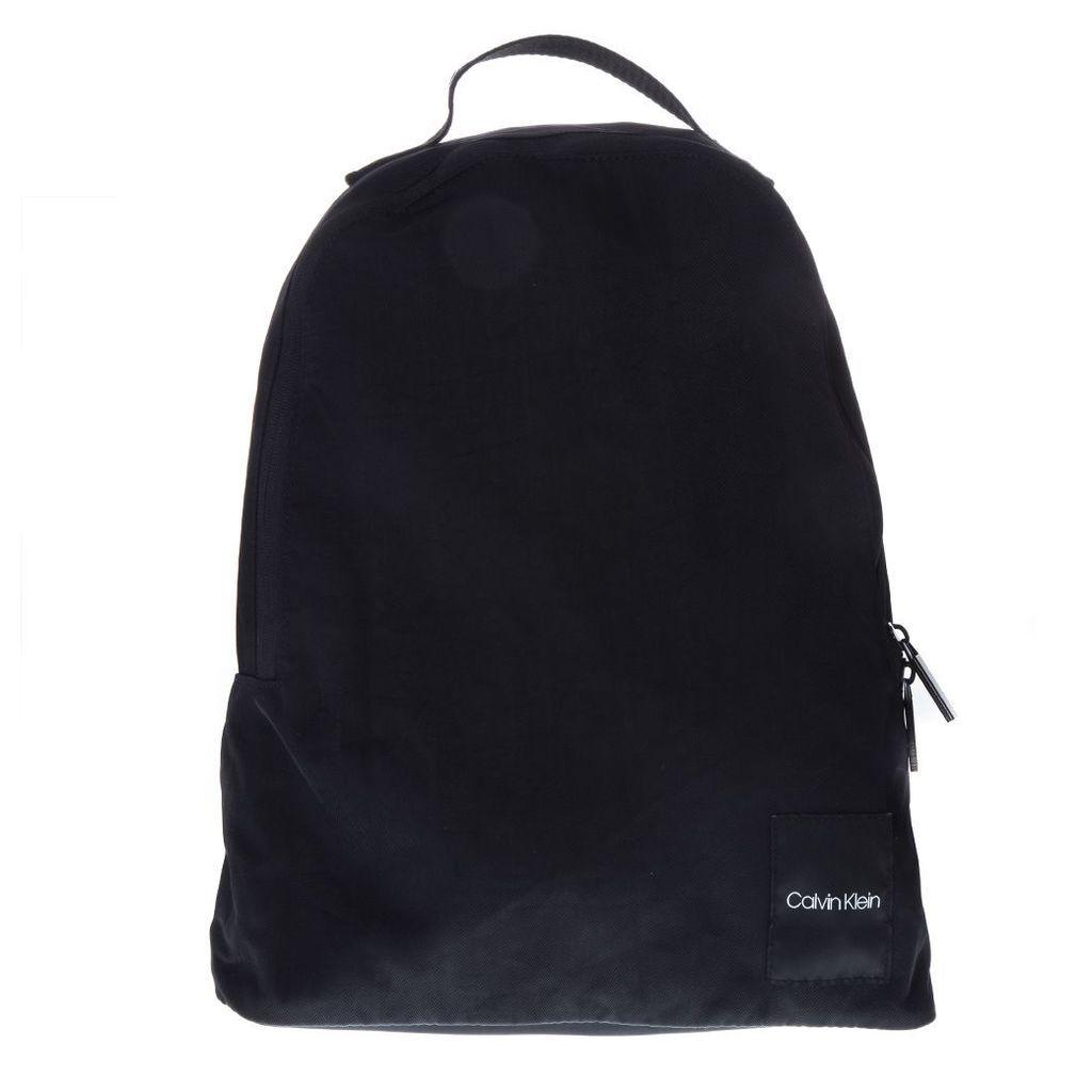 Calvin Klein Black Nylon Logo Backpack