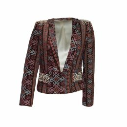 relax baby be cool - Womens Smoking Jacket With Pearl Embroidery