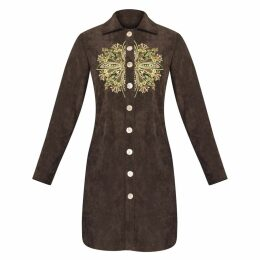 GISY - Gaia Tree Mandala Embroidered Shirtdress
