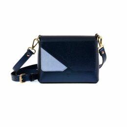 Hiva Atelier - Mini Mare Leather Bag Metallic Navy Blue & Baby Blue