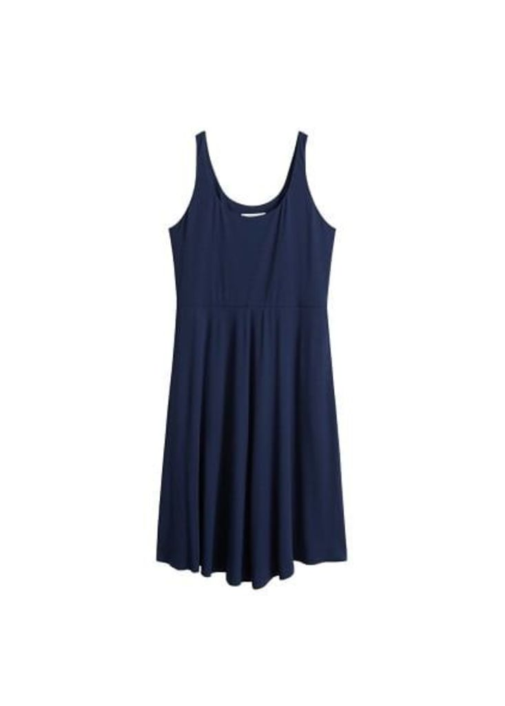 Fluted hem dress
