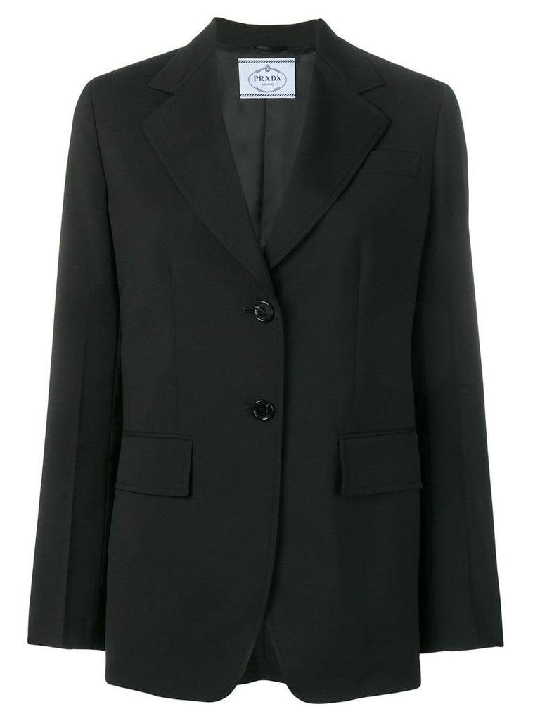 Prada classic tailored blazer - Black