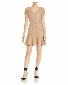 Aqua Faux-Suede Zip-Front Dress - 100% Exclusive