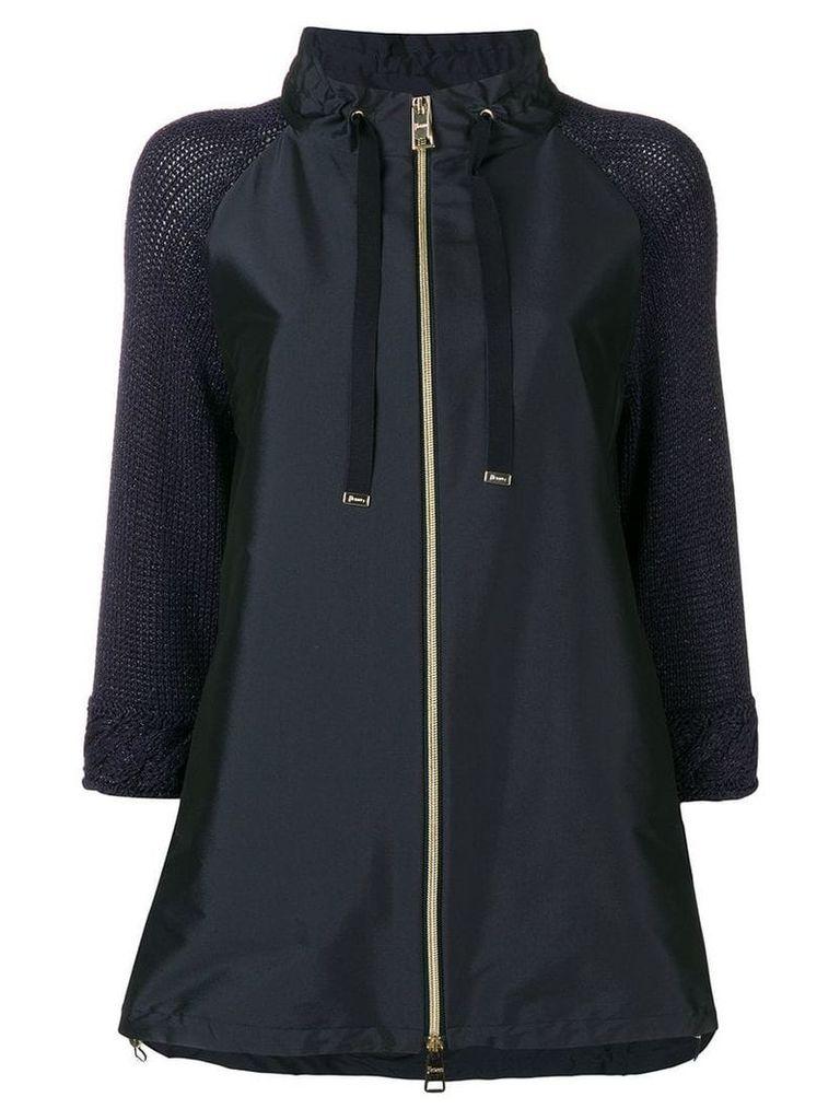 Herno zip-up parka coat - Blue