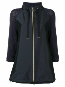 Herno zip-up parka coat - Blue