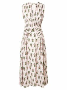 Emilia Wickstead rose print midi dress - Pink