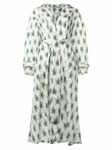 Emilia Wickstead rose print robe coat - Neutrals