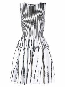 Antonino Valenti perforated mini dress - White