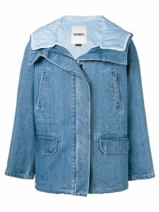 Yves Salomon denim padded coat - Blue