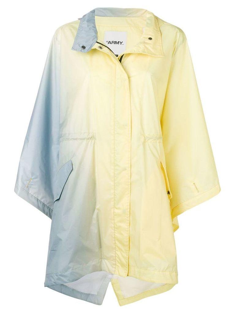 Yves Salomon gradient parka raincoat - Yellow