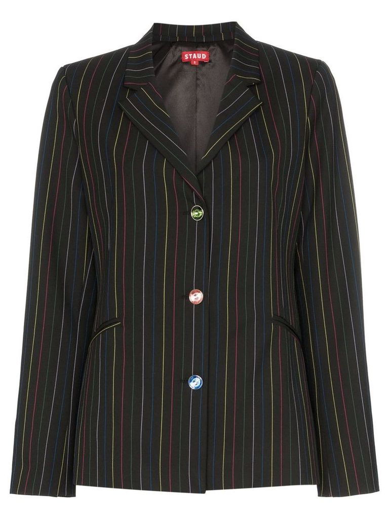 Staud rainbow striped tunnel blazer - Black