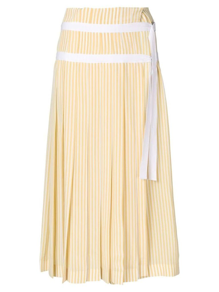 Joseph striped pleated skirt - Yellow