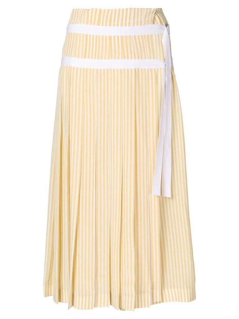 Joseph striped pleated skirt - Yellow