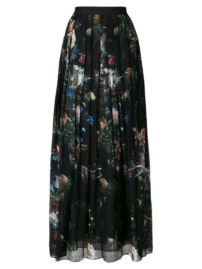 Adam Lippes printed pleated midi skirt - Black