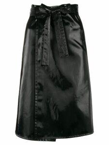 Helmut Lang patent belted skirt - Black