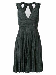 Antonino Valenti v-neck knitted midi dress - Black