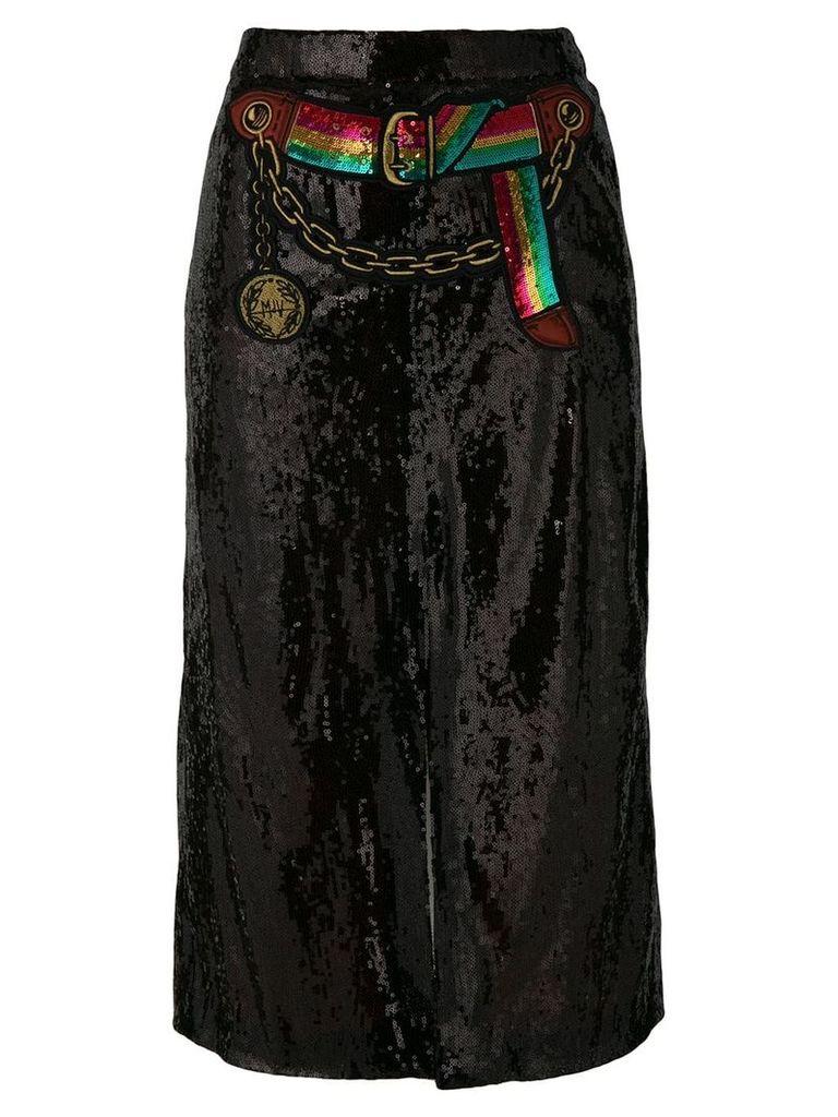 Marco De Vincenzo sequined split skirt - Black