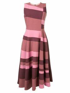 Roksanda sleeveless flared stripe dress - Pink