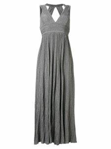 Antonino Valenti v-neck knitted long dress - Grey