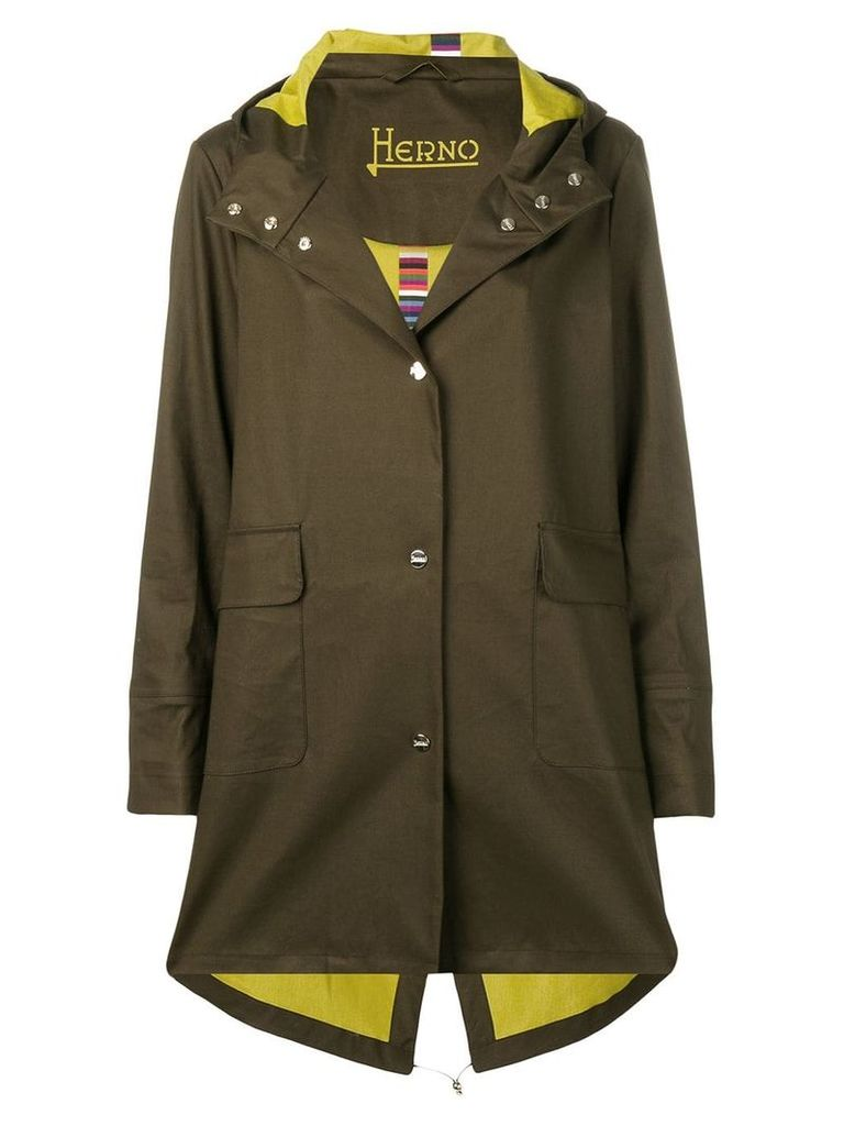 Herno midi raincoat - Green