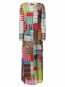 Missoni striped squares maxi dress - Multicolour