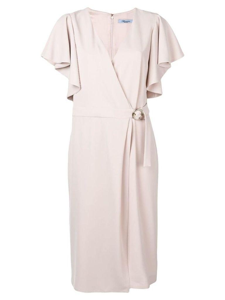 Blumarine draped sleeves wrap dress - Pink