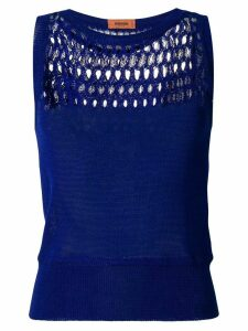 Missoni knitted tank top - Blue
