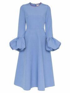 Roksanda Aylin bell sleeve flared midi dress - Purple