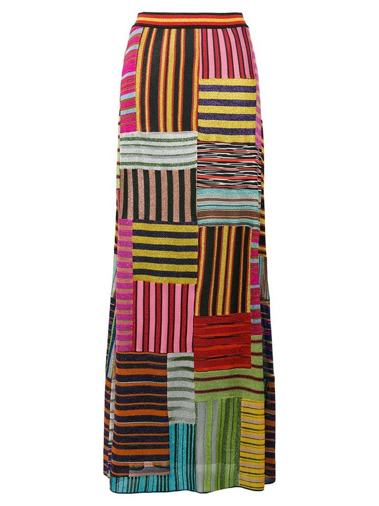 Missoni patchwork striped skirt - Multicolour