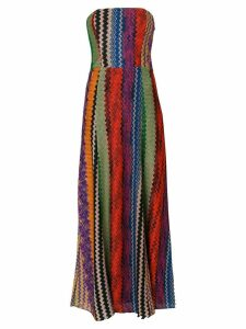 Missoni strapless embroidered dress - Multicolour