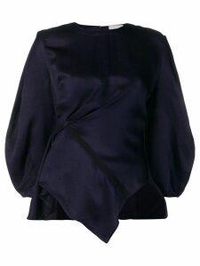 Palmer / Harding gathered waist blouse - Blue