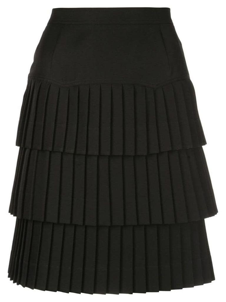 Calvin Klein 205W39nyc tiered pleated skirt - Black