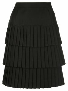 Calvin Klein 205W39nyc tiered pleated skirt - Black