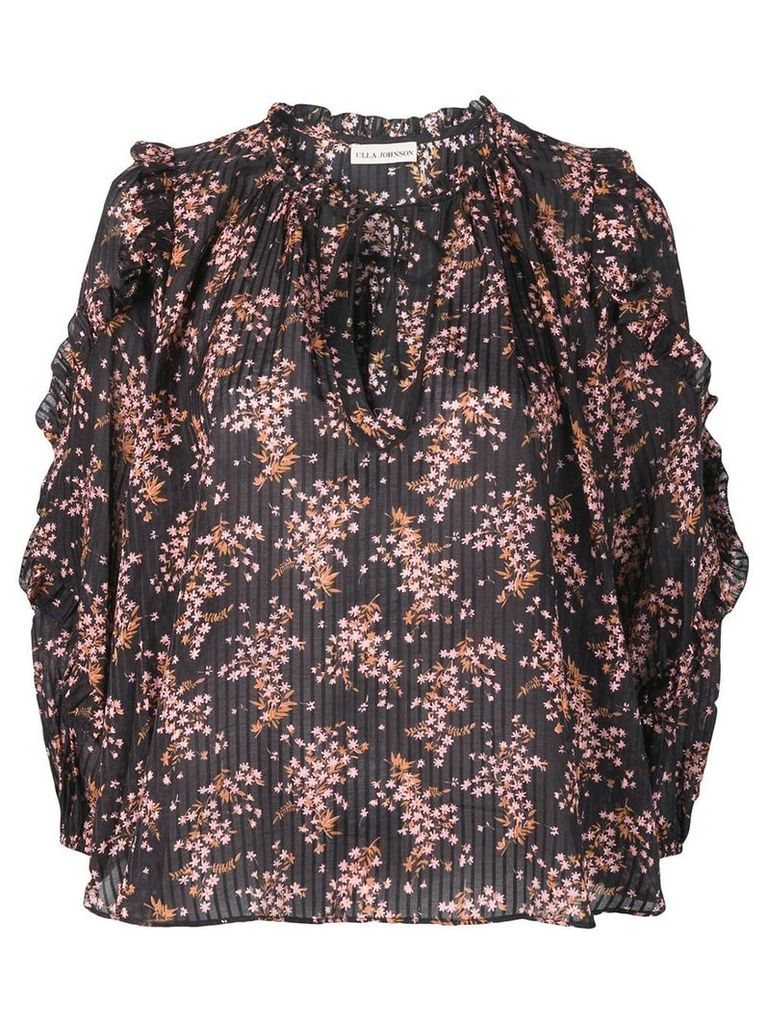 Ulla Johnson floral print blouse - Black