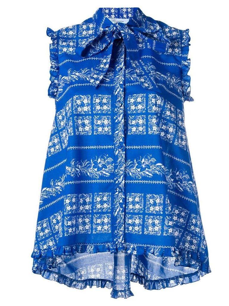 Blumarine floral print shirt - Blue