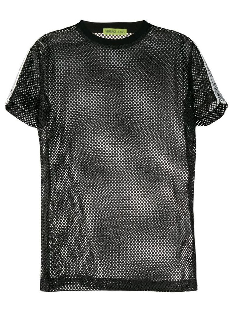 Versace Jeans mesh T-shirt - Black
