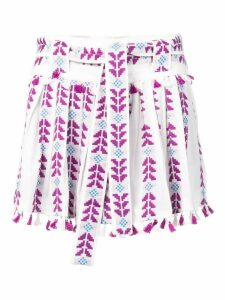 Dodo Bar Or embroidered pleated skirt - Purple