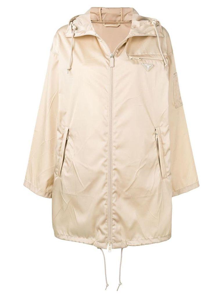 Prada oversized raincoat - Neutrals